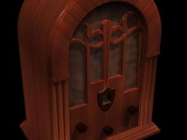 Old fashioned radio 3d preview