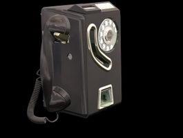 Public phone 3d preview