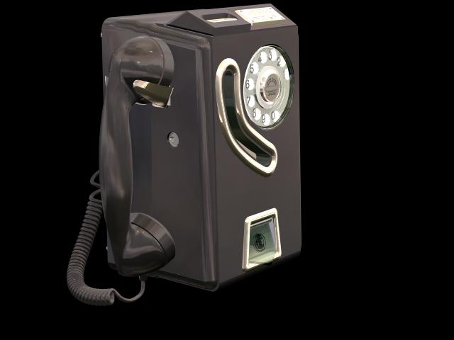 Public phone 3d rendering