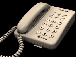 Household telephone 3d preview