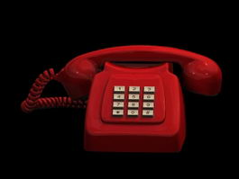 Red telephone 3d preview