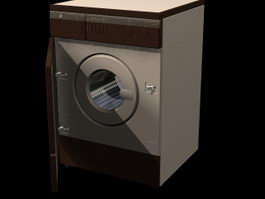 Wash machine 3d preview