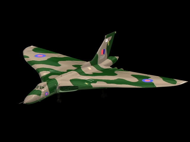 Avro Vulcan B.2 Strategic bomber 3d rendering