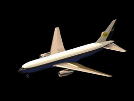 Boeing 767 airplane 3d model preview