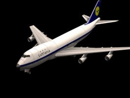 Boeing 747 3d model preview