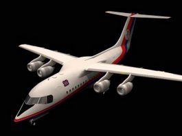 British Aerospace 146 airliner 3d model preview
