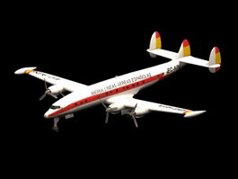 Lockheed Super Constellation Airliner 3d model preview