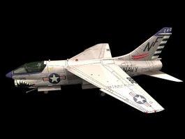LTV A-7 Corsair II Attack aircraft 3d model preview