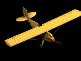 Ace Junior Ace Sports aircraft 3d model preview