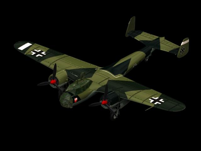 Dornier Do 17 light bomber 3d rendering