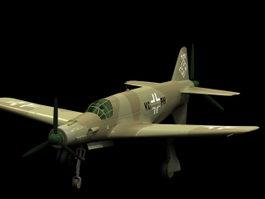 Dornier Do 335 Pfeil heavy fighter 3d model preview