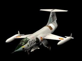 F-104 Starfighter interceptor aircraft 3d preview