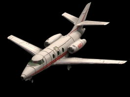 Falcon 10 jet aircraft 3d model preview