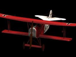 Fokker V.7 fighter 3d model preview