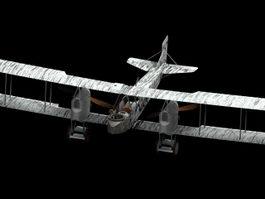 Gotha G.IV heavy bomber 3d model preview