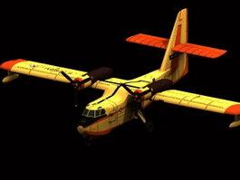 Canadair CL-215 firefighting aircraft 3d model preview