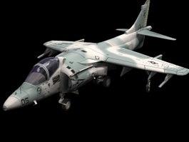 AV8B Harrier attack aircraft 3D Model