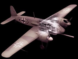 Henschel Hs 129B attack aircraft 3D Model