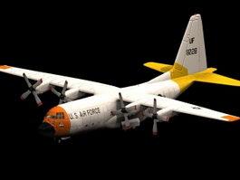Hercules transport aircraft 3d model preview
