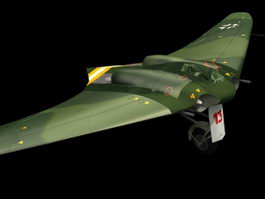 Horten Ho 229 fighter bomber 3d model preview