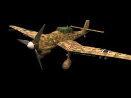 Junkers Ju 87 Stuka dive bomber 3d model preview