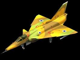 IAI Kfir C7 Fighter-bomber 3d model preview