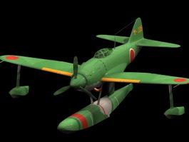 N1K Kyofu fighter 3d model preview