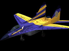 MiG-29 multirole fighter 3d model preview
