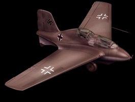 Messerschmitt Me 163 fighter aircraft 3d model preview