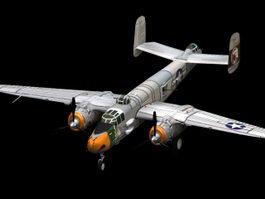 B-25 Mitchell medium bomber 3d model preview
