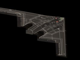 Northrop B-2 Stealth bomber 3d model preview