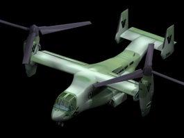 Boeing V-22 Osprey military transport 3d model preview