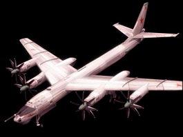 Tupolev Tu95 Bear strategic bomber 3D Model