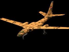 Tu16 Badger strategic bomber 3D Model