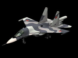 Sukhoi Su-34 fighter-bomber 3d model preview
