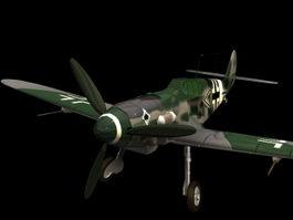 Messerschmitt Bf 109 fighter 3D Model