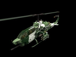 AH-1W Super Cobra attack helicopter 3d model preview