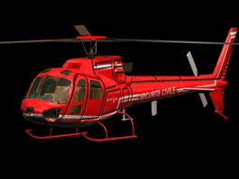 Eurocopter AS350 Ecureuil helicopter 3D Model