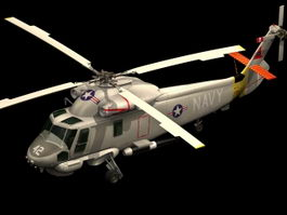SH-2 Seasprite helicopter 3d model preview