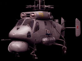 Ka-25 Hormone naval helicopter 3d preview
