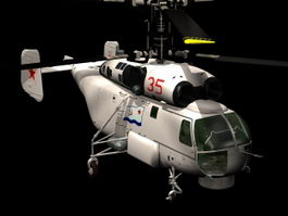 Kamov Ka-27 Helix military helicopter 3d preview