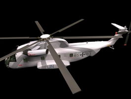 CH-53 Sea Stallion cargo helicopter 3d model preview