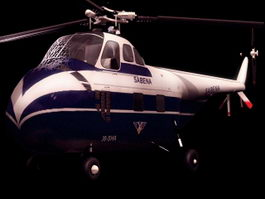 Sikorsky S-55 utility helicopter 3d model preview