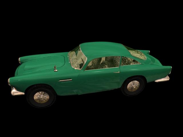 1958 Aston Martin DB Mark III Sports car 3d rendering