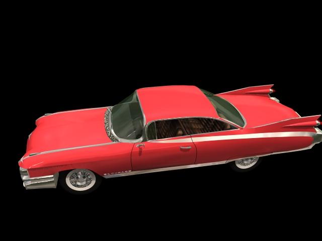 Cadillac Eldorado luxury car 3d rendering