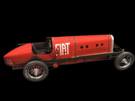 FIAT Mephistopheles racing car 3d model preview