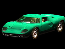 Ford GT40 roadster 3d model preview