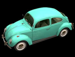 Volkswagen Beetle 2-door saloon 3d preview