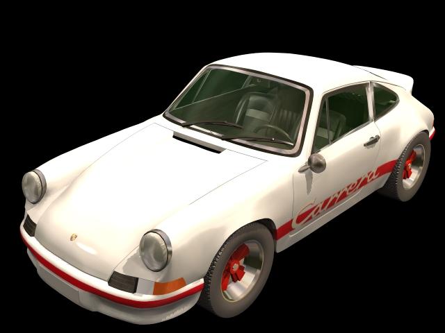 Porsche Carrera GT sports car 3d rendering