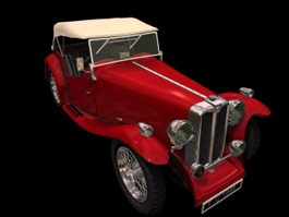 MG TA Midget 2-door roadster 3d preview